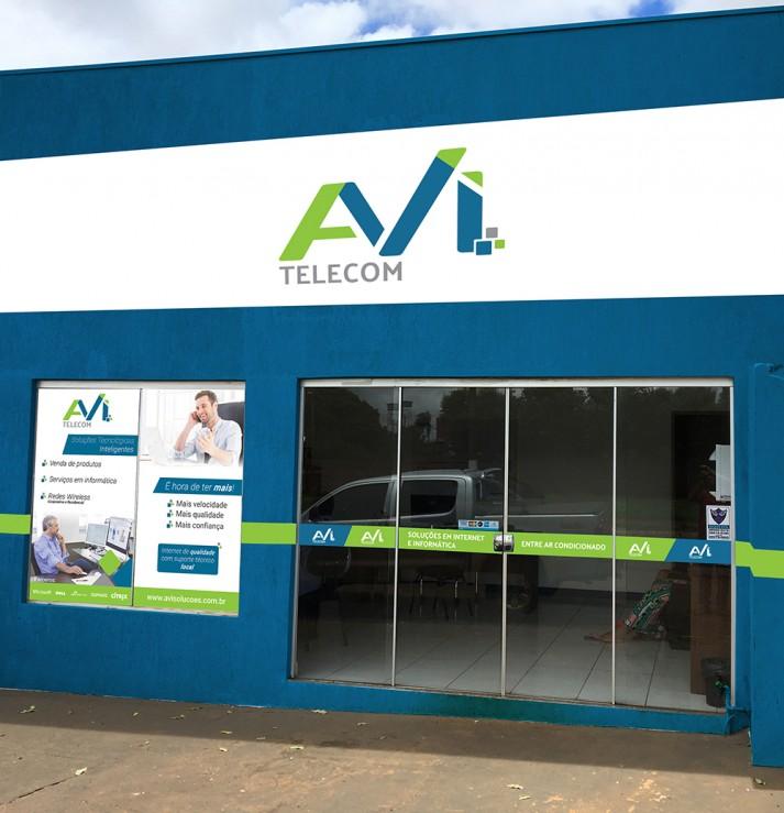 Front Sign - AVI Building (After)